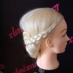 Νυφικό χτένισμα από πλεξίδες / Braided Updo wedding hairstyle